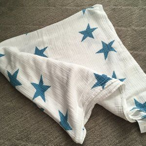 Aden & Anais Turquoise Star Swaddle Cotton Muslin
